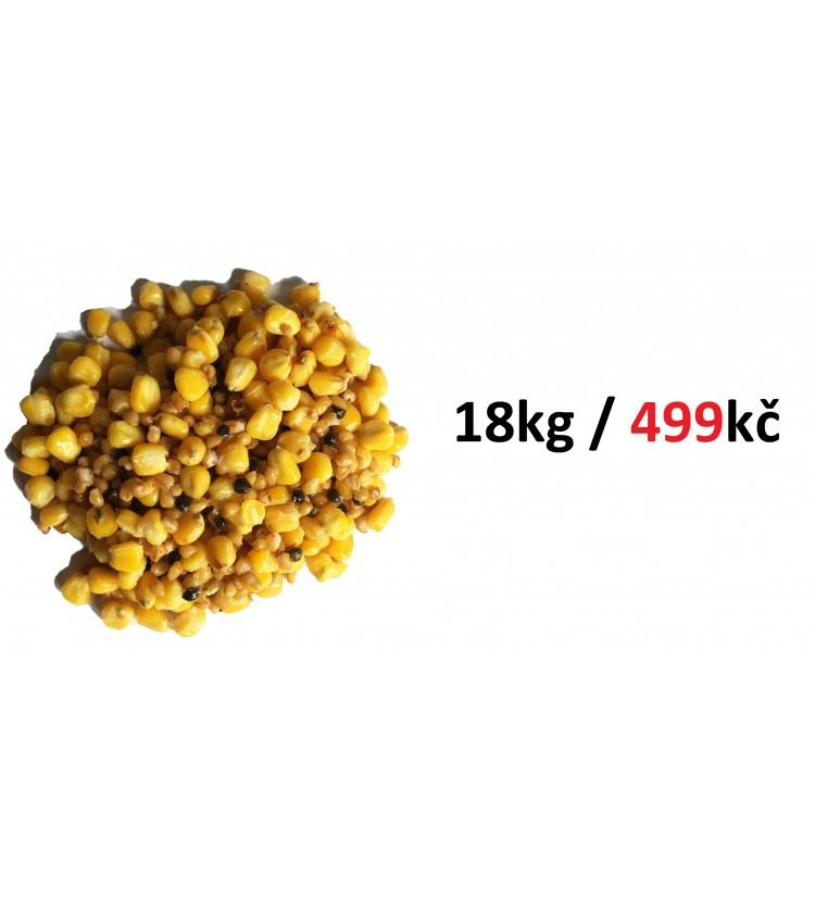 Kukuřice + pšenice + konopí vařený vakuovaný 18 x 1kg (18kg)