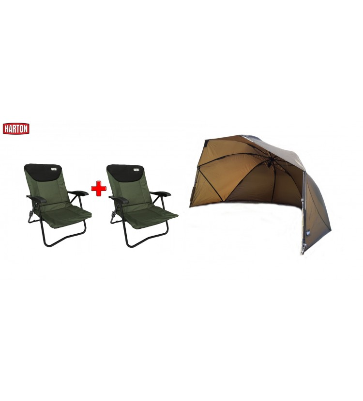 Brolly Harton – Easy Shelter 60 + 2x křeslo Harton Stalker mini