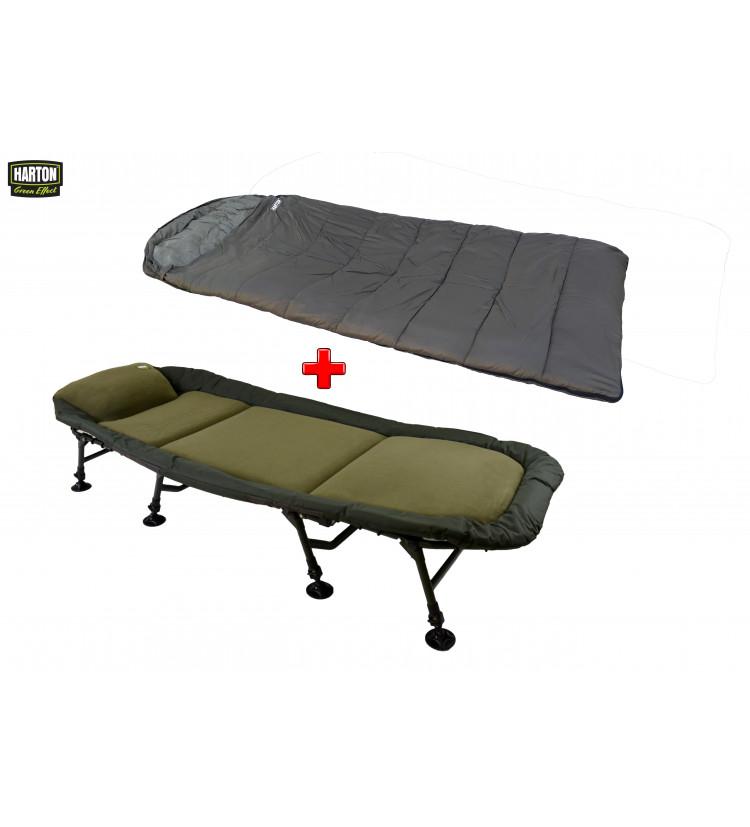 Lehátko Harton Comfort Flat 8-legs + spací pytel Harton Basic