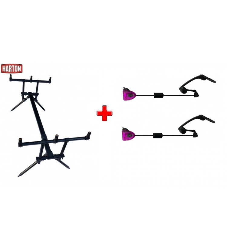 Akce Rod Pod Harton Black Stabil + 2x kyvadlový swinger