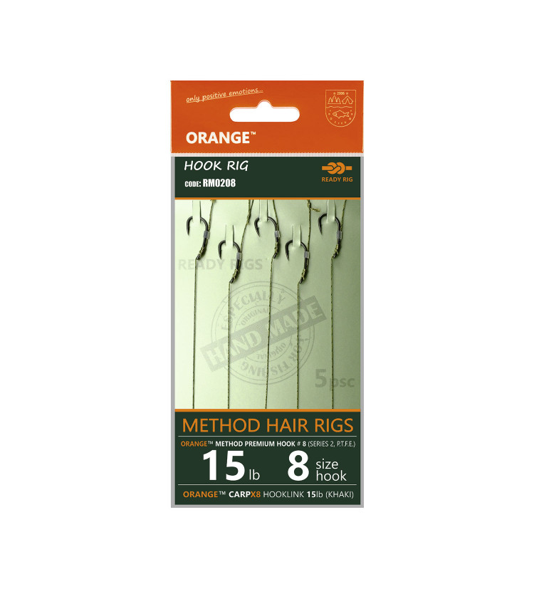 Life Orange návazce Method Hair Rigs S1 / 5ks