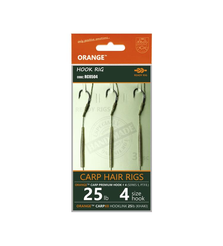 Life Orange návazce Carp Hair Rigs S5 / 3ks