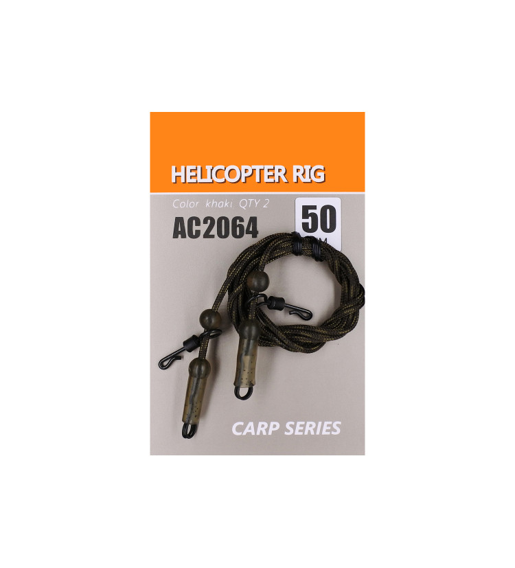 Life Orange Helicopter Rig 50cm / 2ks