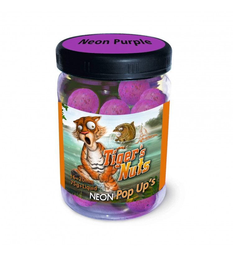 Boilie Radical Neonové Pop-Up´s Tiger Nuts 16-20mm 75gr