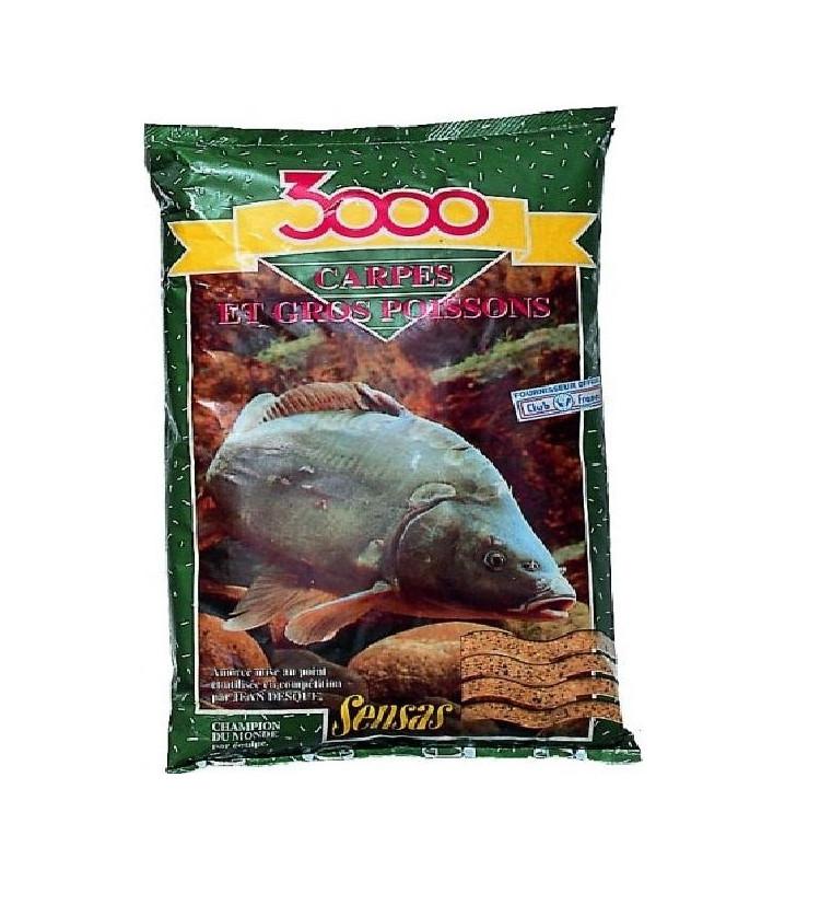 Krmení Sensas 3000 Carpes 1kg (Přírodní)