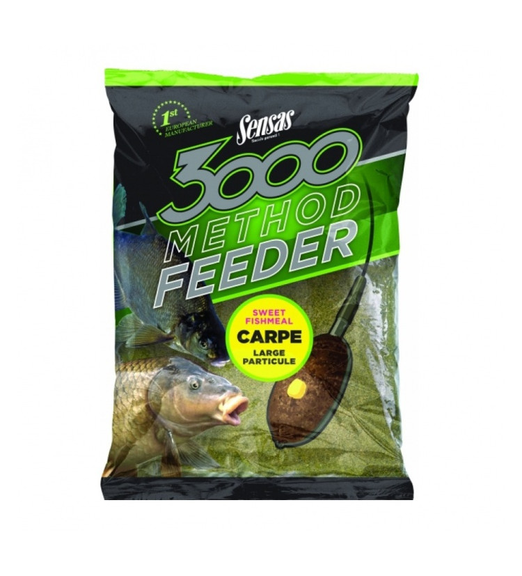 Krmítková Směs Sensas 3000 Method Feeder Carpe Yellow 1kg
