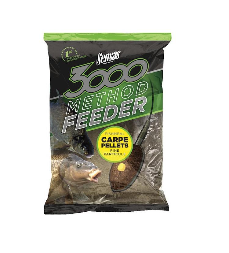 Krmítková Směs Sensas 3000 Method Feeder Carpe Pellets 1kg