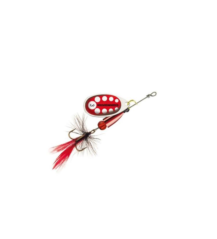 Cormoran Třpytka Bullet Silver / Red + peří