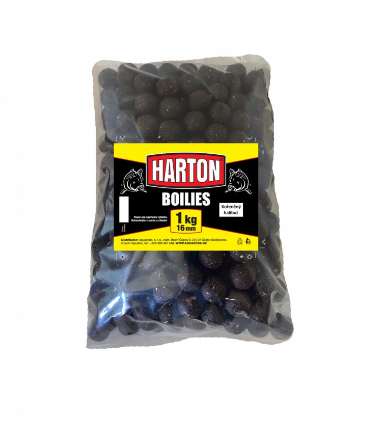 Harton Boillies 16mm / 1kg Kořeněný halibut