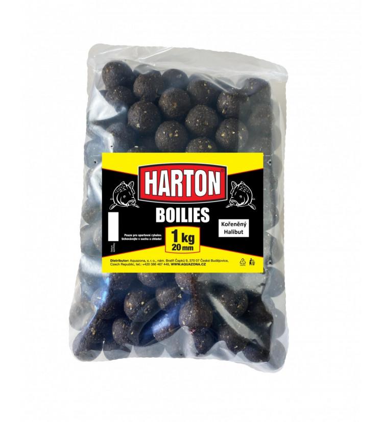 Harton Boillies 20mm / 1kg Kořeněný halibut