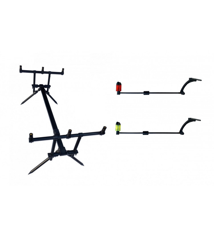 Rod Pod Harton Black Stabil + 2x Swinger Sellior