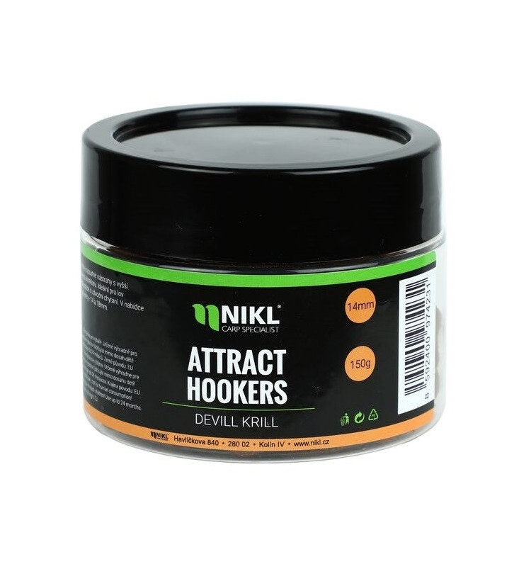 NIKL Attract Hookers rychle rozpustné dumbells 18 mm 150 g