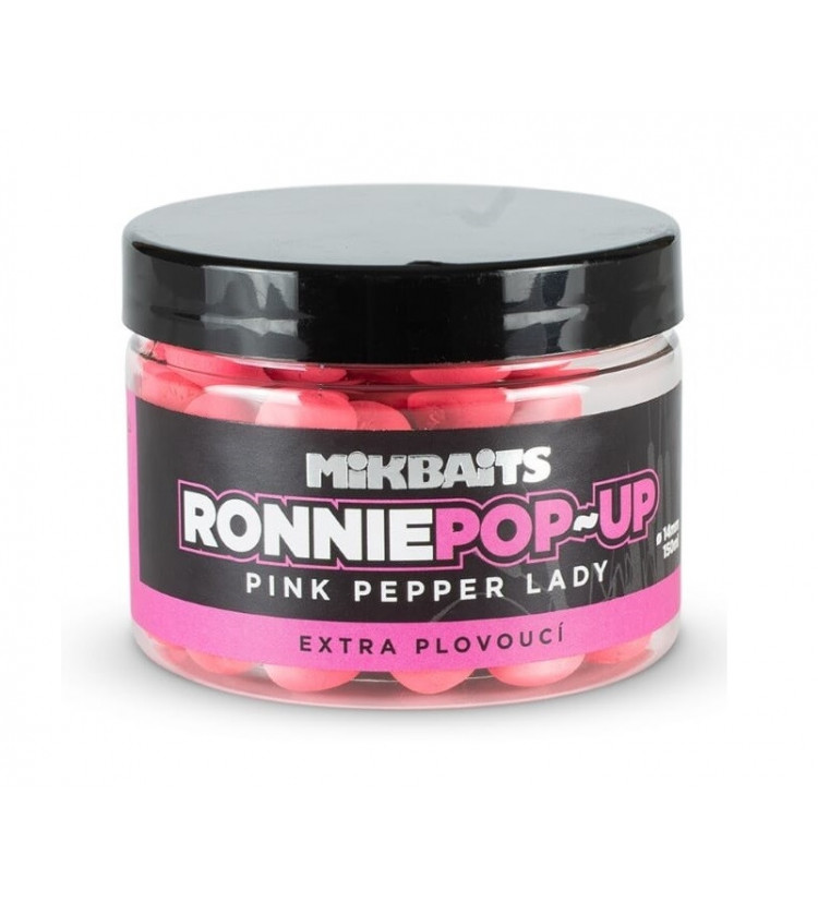 Mikbaits Plovoucí Boilie Ronnie Pink Pepper Lady 14 mm 150 ml