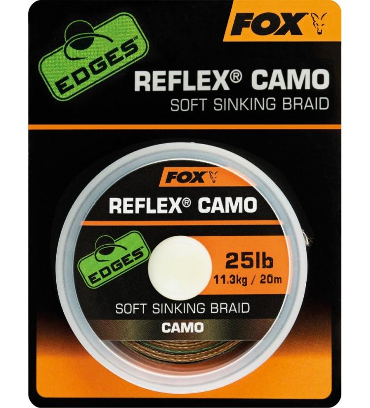 Fox Návazcová Šňůrka Reflex Camo 20 m / Průměr 25 lb / Nosnost 11,3 kg