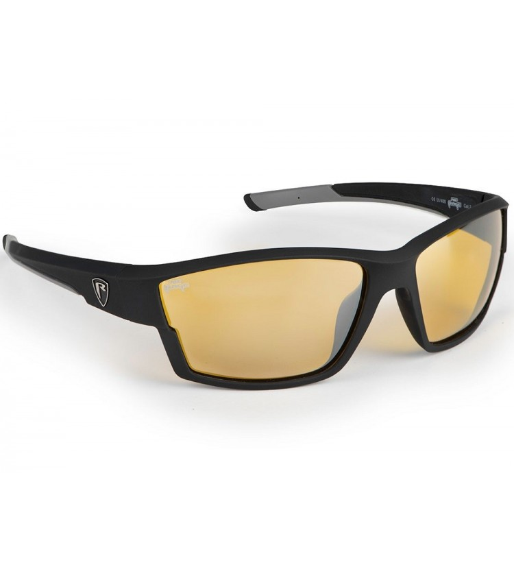Fox Rage Brýle Matt Black Amber lense Wraps