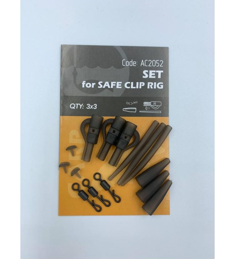 Life Orange Set Safe Clip Rig 3 ks