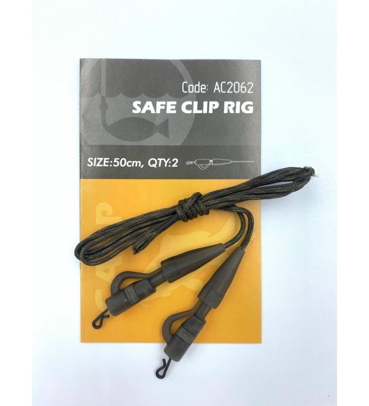 Life Orange Safe Clip Rig 2 ks