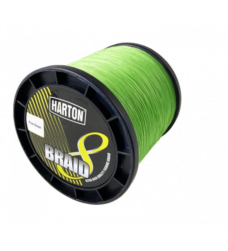 Harton pletená šňůra 8-Braid Fluo Green