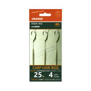 Life Orange návazce Carp Hair Rigs S1 25lb / vel.4 / 3ks